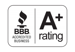 Better Business Bureau Badge with A-Plus Rating